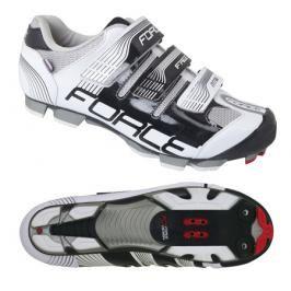 Cyklistické tretry Force MTB FREE černo-bílé