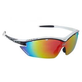 Cyklistické brýle Force RON bílo-černé, multilaser skla