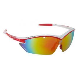Cyklistické brýle Force RON bílo-červené, multilaser skla