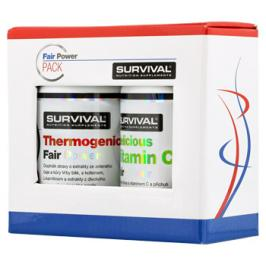 Survival Thermogenic Fair Power 60 tbl + Delicious Vitamin C Fair Power 120 tbl