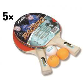 Školní set Stiga Pacific (10 pálek+15 míčků)