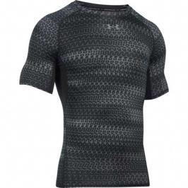 Pánské tričko Under Armour HG Printed Compression Black/Grey