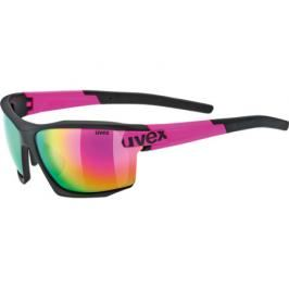Cyklistické brýle Uvex Sportstyle 113 černo-růžové matné