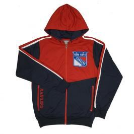 Pánská bunda s kapucí Old Time Hockey Chaser NHL New York Rangers