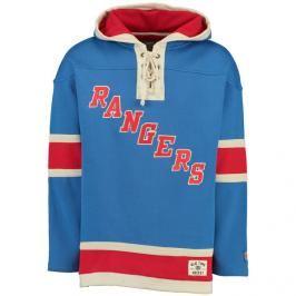 Pánská mikina s kapucí Old Time Hockey Lacer Fleece NHL New York Rangers
