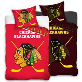 Tip Trade Svítící hokejové povlečení NHL Chicago Blackhawks 140x200 70x90