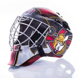 Mini brankářská helma Franklin NHL Ottawa Senators