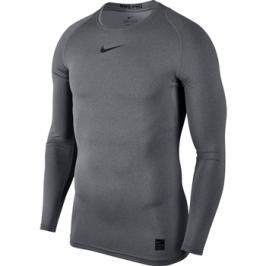 Pánské tričko Nike Pro Top LS Compression Carbon Heather