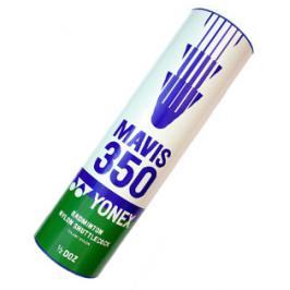 Badmintonové míče Yonex Mavis 350 White (dóza po 6 ks)