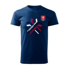 Pánské tričko Hockey Slovakia překřížené hokejky