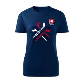 Dámské tričko Hockey Slovakia překřížené hokejky