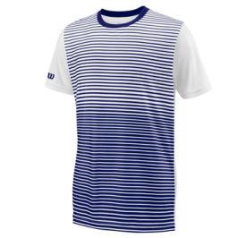 Dětské tričko Wilson Team Striped Crew Navy/White
