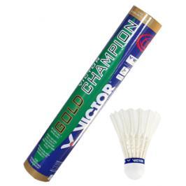 Péřové badmintonové míče Victor Gold Champion (12 ks)