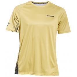 Pánské tričko Babolat Performance Crew Neck Tee Yellow