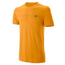 Pánské tričko Wilson Competition Seamless Crew Orange