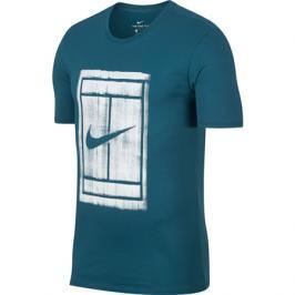 Pánské tričko Nike Court Green Abyss