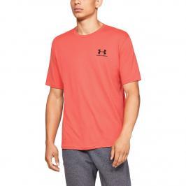 Pánské tričko Under Armour Sportstyle Left Chest SS oranžové