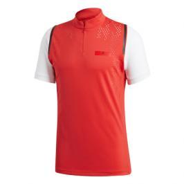 Pánské tričko adidas SMC Zipper Tee Red