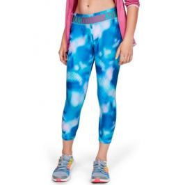 Dívčí legíny Under Armour HG Printed Ankle Crop modré