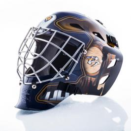 Mini brankářská helma Franklin NHL Nashville Predators