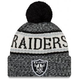 Zimní čepice New Era Bobble Knit Home NFL Oakland Raiders OTC