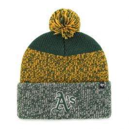 Zimní čepice 47 Brand Static Cuff Knit MLB Oakland Athletics