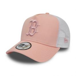 Dámská kšiltovka New Era 9Forty A-Frame Trucker Essential MLB Boston Red Sox Peach/White