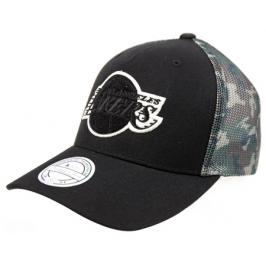 Kšiltovka Mitchell & Ness Squad Camo Snapback NBA Los Angeles Lakers Black