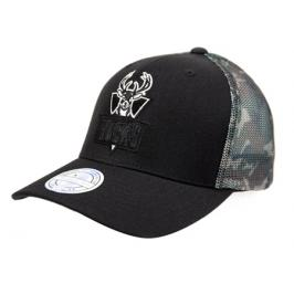Kšiltovka Mitchell & Ness Squad Camo Snapback NBA Milwaukee Bucks Black