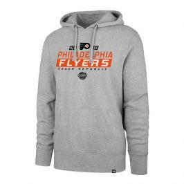 Pánská mikina s kapucí 47 Brand Headline Hood NHL Philadelphia Flyers šedá GS19
