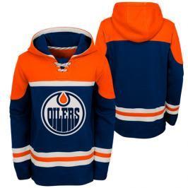 Dětská hokejová mikina s kapucí adidas Asset Pullover Hood NHL Edmonton Oilers