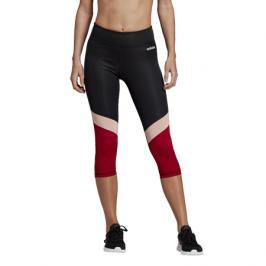 Dámské legíny adidas D2M CB R 34 TIG černo/červené