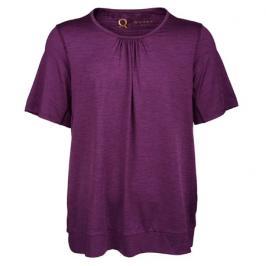 Dámské tričko Endurance Q Bree SS Melange Tee fialové