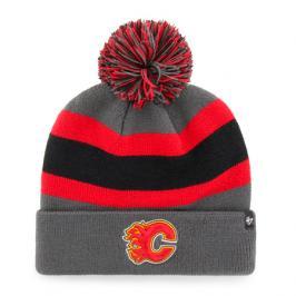 Zimní čepice 47 Brand Breakaway Cuff Knit NHL Calgary Flames šedá
