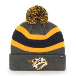 Zimní čepice 47 Brand Breakaway Cuff Knit NHL Nashville Predators šedá