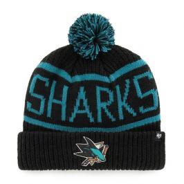 Zimní čepice 47 Brand Calgary Cuff Knit NHL San Jose Sharks černá