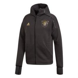 Pánská mikina na zip s kapucí adidas Z.N.E. 3.0 Manchester United FC černá
