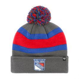 Zimní čepice 47 Brand Breakaway Cuff Knit NHL New York Rangers šedá