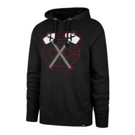 Pánská mikina s kapucí 47 Brand Headline Hood Imprint NHL Chicago Blackhawks