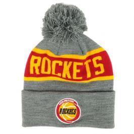 Zimní čepice Mitchell & Ness Team Tone Knit NBA Houston Rockets Grey/Red