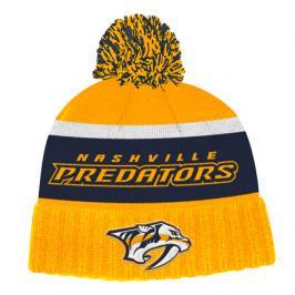 Zimní čepice adidas Culture Cuffed Knit Pom NHL Nashville Predators