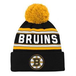 Dětská zimní čepice adidas Jacquard Cuffed Knit With Pom NHL Boston Bruins