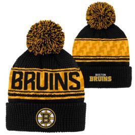 Dětská zimní čepice Outerstuff Pattern Jacquard Cuff Pom NHL Boston Bruins