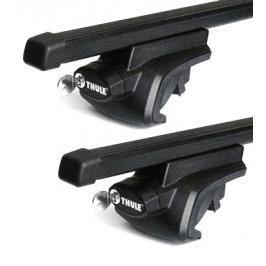 Střešní nosič Thule Ford Mondeo (MKI/MKII) 5-dr kombi se střešními podélníky (hagusy) 1996-2000 s ocelovou tyčí