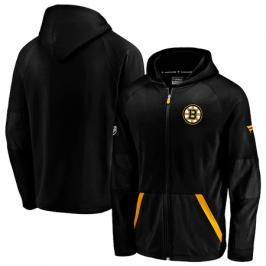 Pánská mikina na zip s kapucí Fanatics Rinkside Gridback Full-Zip Hoodie NHL Boston Bruins