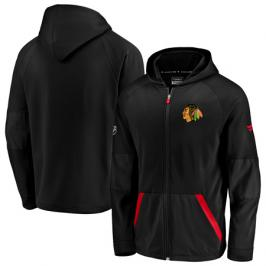 Pánská mikina na zip s kapucí Fanatics Rinkside Gridback Full-Zip Hoodie NHL Chicago Blackhawks