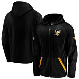 Pánská mikina na zip s kapucí Fanatics Rinkside Gridback Full-Zip Hoodie NHL Pittsburgh Penguins