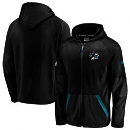 Pánská mikina na zip s kapucí Fanatics Rinkside Gridback Full-Zip Hoodie NHL San Jose Sharks