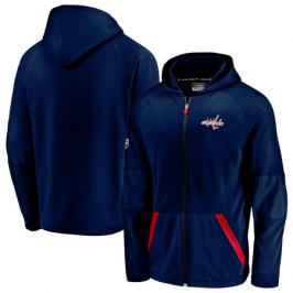 Pánská mikina na zip s kapucí Fanatics Rinkside Gridback Full-Zip Hoodie NHL Washington Capitals