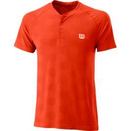 Pánské tričko Wilson Power Seamless Henley Orange